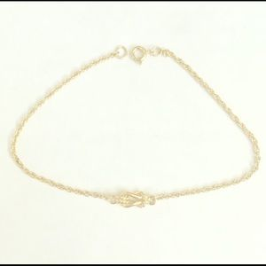 Jewelry - ⭐️5/$25 ⭐️gold chain knotted anklet